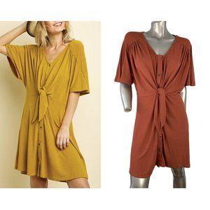 UMGEE | Button Front Tie Dress Medium